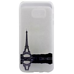 Voor Samsung Galaxy S7 Edge Transparant / Patroon hoesje Achterkantje hoesje Eiffeltoren Zacht TPU SamsungS7 edge / S7 / S6 edge plus /