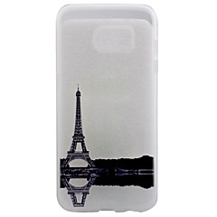 Mert Samsung Galaxy S7 Edge Átlátszó / Minta Case Hátlap Case Eiffel torony Puha TPU SamsungS7 edge / S7 / S6 edge plus / S6 edge / S6 /