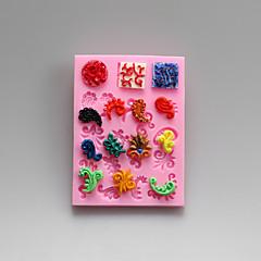 stampi motivo decorativo cioccolato decorativo in silicone, stampi per ...