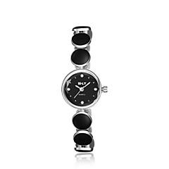 jewelora Dames Dress horloge Modieus horloge Kwarts Stootvast Keramiek Band Vintage Zwart Zilver-Zwart