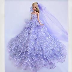Wedding Dresses For Barbie Doll Purple Dresses