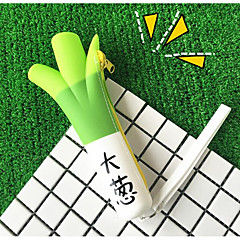 Korea Creative Pencil Cartoon Banana Cargo Eat Green Onions Pencil Large Capacity Pencil Silicone Purse