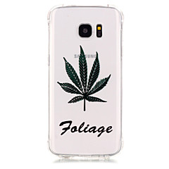 TPU Material Maple Leaf Pattern Bronzing Phone Case for Samsung Galaxy S7 Edge/S7/S6/S5