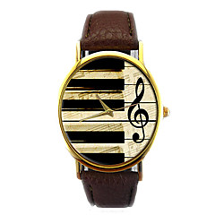 fashion unisex horloges vintage piano muzikale noot analoge quartz horloge