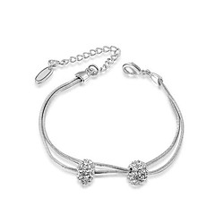 Charm Bracelets 1pc,Fashionable / Adjustable Rose / Silver Alloy Jewelry Gifts