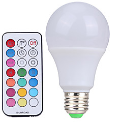 YWXLight® E27 Dimmable RGBW Lamp Led Bulbs 10W Colorful RGB Bulb 85-265V Chandeliers Led Light