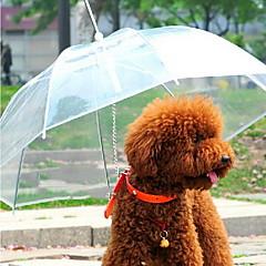 Pies Parasol Zwierzęta domowe Torby Wodoodporny Przenośny Jendolity kolor Transparent