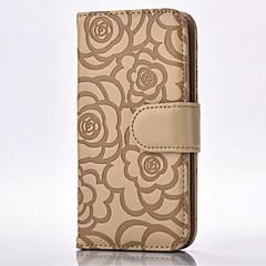 Mert Samsung Galaxy Note Kártyatartó / Pénztárca / Állvánnyal / Flip / Dombornyomott Case Teljes védelem Case Virág Puha Műbőr Samsung