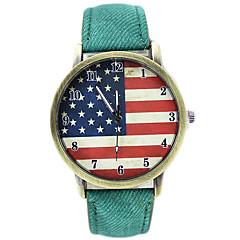 Unisex Flag Pattern Casual Quartz Wrist Watch