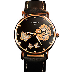 Women's Fashion Quartz Wrist Casual Watch PU Belt Round Alloy Flower Dial(Assorted Colors) Watch Cool Watch Unique Watch