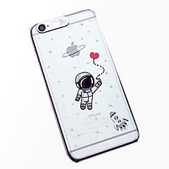 Poczucie lcd astronauta wzór błysk światła z powrotem skrzynki pokrywa dla iphone 6 / 6s