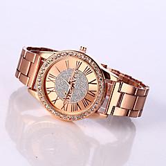 Masculino Mulheres Unissex Relógio de Moda Quartzo Relógio Casual imitação de diamante Aço Inoxidável Banda PendentePrata Dourada Ouro