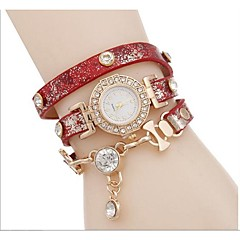 Dames Modieus horloge Armbandhorloge Gesimuleerd Diamant Horloge Kwarts Vrijetijdshorloge imitatie Diamond Legering Band Bohémien Cool