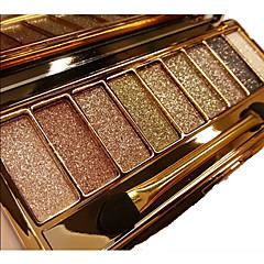9 Paleta de Sombras Secos / Brilho / Mineral Paleta da sombra Pó NormalMaquiagem para o Dia A Dia / Maquiagem Esfumada / Maquiagem para