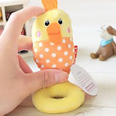 고양이 장난감 강아지 장난감 반려동물 장난감 소리 장난감 찍찍 소리를 내다 닭&병아리 옐로우