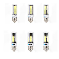 6 pcs BRELONG E14 / G9 / GU10 / E26/E27 / B22 LED Corn Lights 80 SMD 5733 800 lm Warm White / Cool White AC 220-240 V