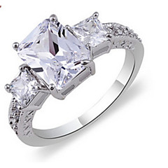 AAA Zircon Fine Statement Ring for Wedding Party