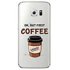 Coffee Life Pattern Soft Ultra-thin TPU Back Cover For Samsung GalaxyS7 edge/S7/S6 edge/S6 edge plus/S6/S5/S4