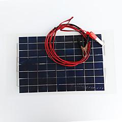 zdm® 10waty 12V výstup 0.65a monokrystalický křemík solární panel (dc12-18v)