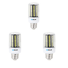 3 pcs E14 / E26/E27 / B22 LED Corn Lights 136 SMD 5733 1000 lm Warm White / Cool White Decorative AC 220-240 V