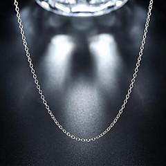 Halsband Kedje Halsband Smycken Bröllop / Party / Dagligen / Casual / Sport Moderiktig / PERSONLIGHET Sterlingsilver Silver 1st Present