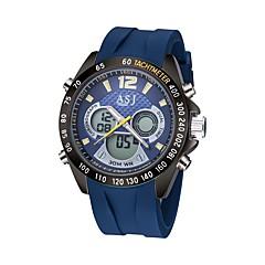 ASJ Męskie Sportowy Zegarek cyfrowy Japoński Cyfrowe Kwarc japońskiLCD Compass Kalendarz Wodoszczelny Dwie strefy czasowe Świecący Stoper