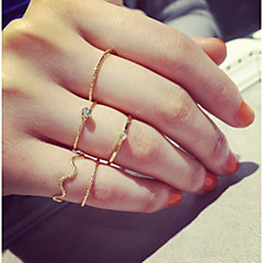 Ringen Modieus / Verstelbaar / PERSOONLIJKHEID Dagelijks / Causaal / Sport Sieraden Legering Dames Midiringen 1 Set,One-Size Gouden