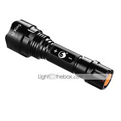 U'King LED Lommelygter LED 1200LM Lumen 3 Tilstand XM-L2 T6 18650 Dæmpbar Camping/Vandring/Grotte Udforskning Udendørs