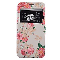 Voor Samsung Galaxy hoesje Kaarthouder / Schokbestendig / Stofbestendig / met standaard hoesje Volledige behuizing hoesje Bloem Zacht
