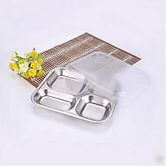 mică placă de oțel inoxidabil gustare mica de patru ori de livrare de patru ori de livrare livrata acasa placa tavă poate acoperi cu folie