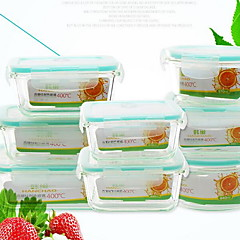 Korean-Resistant Glass Boxes With Separators Microwave Crisper Travel Cutlery Insulation Boxes Sealed Bowl Gifts
