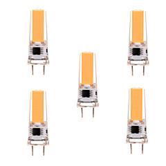 5W G8 Żarówki LED bi-pin T 1 COB 400-500 lm Ciepła biel / Zimna biel Ściemniana / Dekoracyjna AC 220-240 / AC 110-130 V 5 sztuk