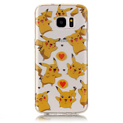 TPU + IMD Material Pikachu Pattern Painted Relief Phone Case for Samsung Galaxy S7 edge/S7/S6 edge/S6/S5