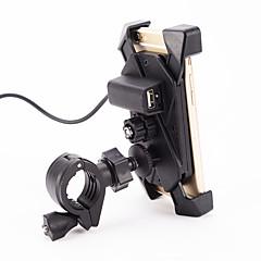 manillar de la motocicleta 12v titular de 3.5-7 'universal del teléfono celular