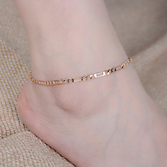 Kadın Ayak bileziği/Bilezikler alaşım Moda minimalist tarzı kostüm takısı Mücevher Uyumluluk Günlük