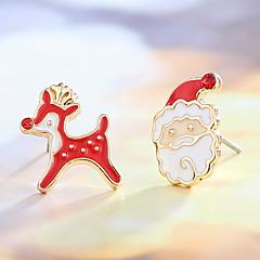 Muoti joulua Metalliseos Animal Shape Hirvet Punainen Korut Varten Päivittäin Kausaliteetti 1 pari