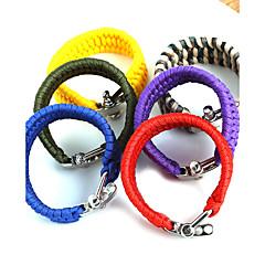Heren Survival Armband Duurzaam Verstelbaar Nylon Lijnvorm Geel Rood Groen Blauw Regenboog Sieraden VoorDagelijks Causaal Sport