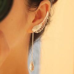 Γυναικεία Κρεμαστά Σκουλαρίκια Κρυστάλλινο Μοντέρνα Ευρωπαϊκό Κράμα Φτερά / Φτερό U σχήμα Κοσμήματα Για Καθημερινά Causal