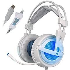 Sades A6 Fejhallgatók (fejpánt)ForMédialejátszó/tablet / SzámítógépWithMikrofonnal / DJ / Hangerő szabályozás / FM Rádió / Játszás /