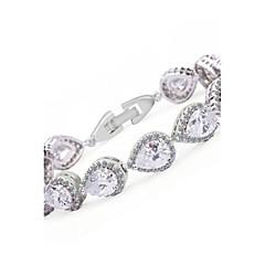Strand Bracelets 1pc,White / Purple Bracelet Fashionable Circle 514 Crystal Jewellery