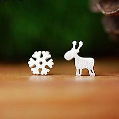 Earring Animal Shape Stud Earrings Jewelry Women Fashion Daily / Casual Sterling Silver 1 pair Silver