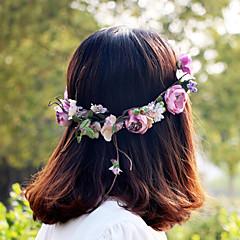 paarse mooie roos bloem kransen hoofdband voor Lady huwelijksfeest vakantie haar sieraden