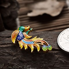 bricolaje oro del estilo de Phoenix encanto de joyería plateada