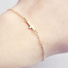 Charm Bracelets/Chain Bracelet,Gold Bracelet Sideways Cross Bracelet Friendship Bracelet For Women 1 pcs