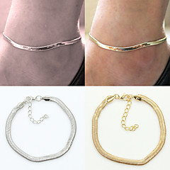 Alloy/Silver Plated/Gold Plated Beach Anklets Casual/Party 1pc Christmas Gifts
