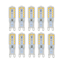 YWXLight® 10 pcs Dimmable 6W G9 LED  Lights 22 SMD 2835 450-550lm Warm/Natural/Cool White AC 220/110V
