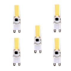 YWXLIGHT 5 Pcs G9 LED Bi-pin Light T 1 COB 5W 400-500 lm Warm White / Cool White Dimmable /  AC 220-240 / AC 110-130 V