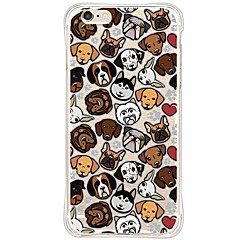 Para Funda iPhone 6 / Funda iPhone 6 Plus Impermeable / Antigolpes / Antipolvo / Transparente Funda Cubierta Trasera Funda Perro Suave TPU