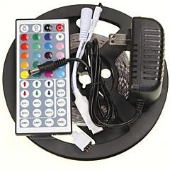 5m 16.4ft rgb 300x5630 SMD LED-es rugalmas led szalagok + 44 gombot ir 12V 2A tápegység ac100-240v