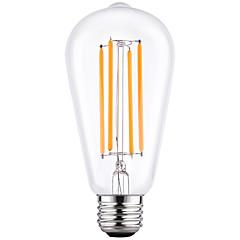4W E27 ST64 vintage Edison levou luz de filamentos lâmpadas lâmpada de poupança de energia 4W LED- 40w equivalente (220-240V)